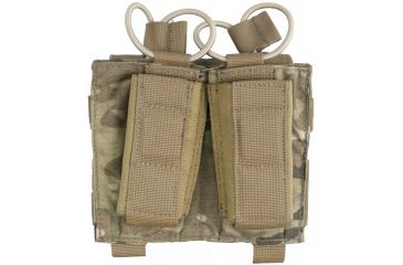 Tactical Assault Gear MOLLE Shingle/Pistol Enhanced 2 Mag Pouch Multicam 812212