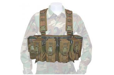 Tactical Assault Gear Rifleman Chest Rig w/ 4 Magazine Pouches - Coyote Tan 812332