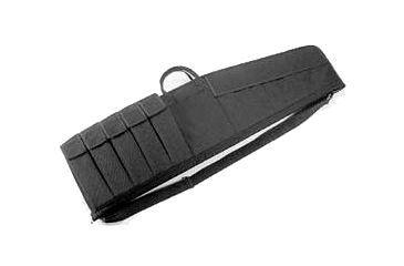 Uncle Mike's Law Enforcement Tactical Rifle Case, 41x10in w/ 5 Magazine Pouches - Black - 52141