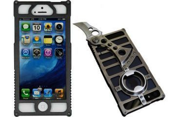 TactiCall Alpha 1 iPhone 5 Case with Knife, Black Out TCAP1-B