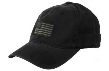 Tactical Assault Gear American FLEXFIT Hat (L/XL) Black AFH-L-BK