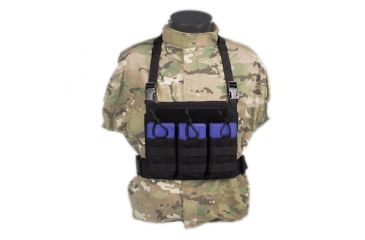 Tactical Assault Gear GO Time Triple 7.62 Mag Chest Rig Black