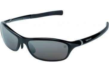 Tag Heuer 27 Sun Sunglasses, Shiny Black Frame/Black Temples, Plum Prime Lens 6001-604
