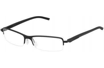 Tag Heuer Automatic Eyeglasses, Black Frame/Black Black Temples, Clear Lens 0824-001