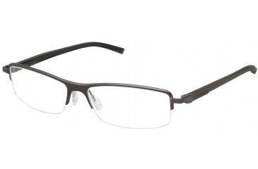 Tag Heuer Automatic Eyeglasses, Chocolate Frame/Dark Brown Black Temples, Clear Lens 0825-003