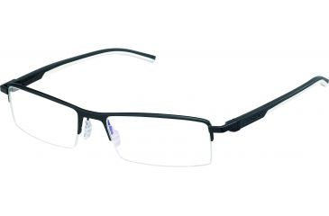 Tag Heuer Automatic Eyeglasses, Matte Black Frame/Black White Temples, Clear Lens 0821-011