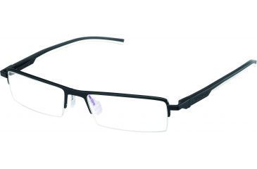 Tag Heuer Automatic Eyeglasses, Matte Black Frame/Black White Temples, Clear Lens 0822-011