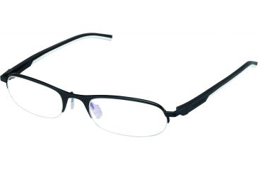 Tag Heuer Automatic Eyeglasses, Matte Black Frame/Black White Temples, Clear Lens 0823-011