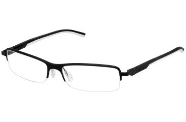 Tag Heuer Automatic Eyeglasses, Matte Black Frame/Black White Temples, Clear Lens 0824-011