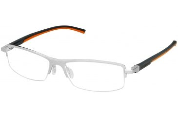 Tag Heuer Automatic Eyeglasses, Pure Frame/Dark Grey Orange Temples, Clear Lens 0825-009