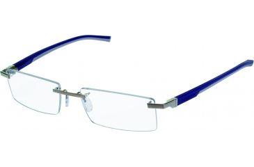 Tag Heuer Automatic Eyeglasses, Pure Frame/Smart Blue Light Grey Temples, Clear Lens 0841-004