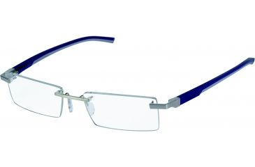 Tag Heuer Automatic Eyeglasses, Pure Frame/Smart Blue Light Grey Temples, Clear Lens 0843-004