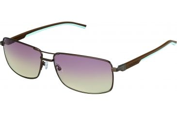 Tag Heuer Automatic Sunglasses, Dark Brown Frame/Dark Brown Blue Sky Temples, Gradient Brown Photochromic Lens 0883-115