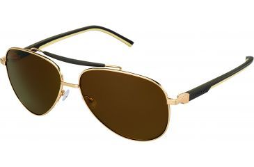 Tag Heuer Automatic Sunglasses, Gold Frame/Dark Brown Ivory Temples, Brown Precision Lens, Polarized 0881-214