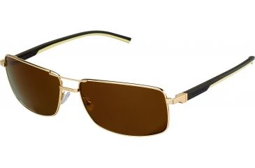 Tag Heuer Automatic Sunglasses, Gold Frame/Dark Brown Ivory Temples, Brown Precision Lens, Polarized 0883-214
