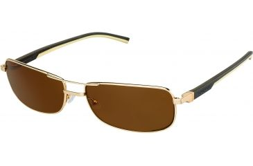 Tag Heuer Automatic Sunglasses, Gold Frame/Dark Brown Ivory Temples, Brown Precision Lens, Polarized 0885-214