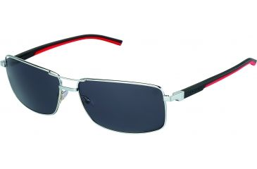 Tag Heuer Automatic Sunglasses, Palladium Frame/Black Red Temples, Grey Outdoor Lens 0883-102
