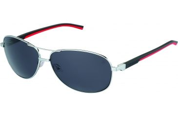 Tag Heuer Automatic Sunglasses, Palladium Frame/Black Red Temples, Grey Outdoor Lens 0884-102