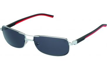 Tag Heuer Automatic Sunglasses, Palladium Frame/Black Red Temples, Grey Outdoor Lens 0885-102