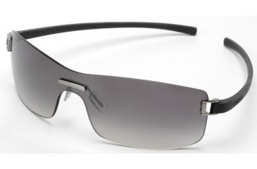 Tag Heuer Club Sunglasses, Brushed Ruthenium Frame/Dark Grey Temples, Gradient Grey Lens 7508-108
