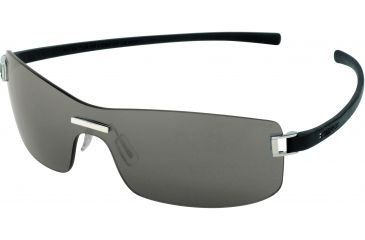 Tag Heuer Club Sunglasses, Shiny Palladium Frame/Black Temples, Grey Outdoor Lens 7508-101