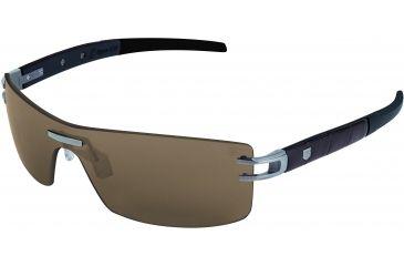 Tag Heuer L-Type LW Sunglasses, Pure Frame/Alligator Matte Brown Black Black Temples, Brown Outdoor Lens 0451-201
