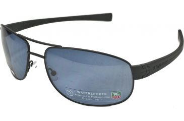 Tag Heuer LRS Sunglasses, Black Black Temples, Watersport Lens, Polarized 0252-401