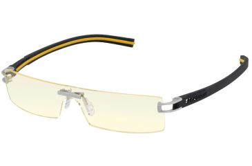 Tag Heuer Panorama Track S Eyeglasses, Dark Frame/Black Yellow Temples, Night Vision Lens 3562-099