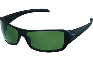 Tag Heuer Racer Sunglasses, Shiny Black Frame/Matte Black Soft Temples, Green Outdoor Lens 9202-311