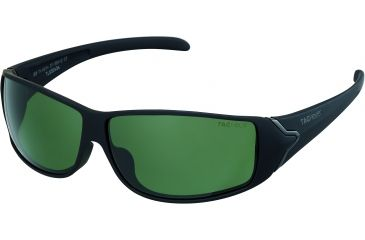 Tag Heuer Racer Sunglasses, Shiny Black Frame/Matte Black Soft Temples, Green Outdoor Lens 9204-311