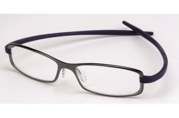 Tag Heuer Reflex 2 Eyeglasses, Anthracite Ceramic Frame/Smart Blue Temples, Clear Lens 3705-019