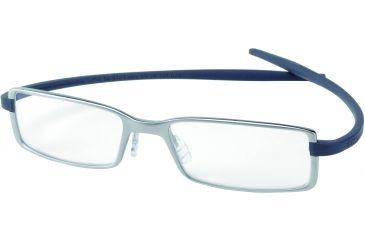 Tag Heuer Reflex 2 Eyeglasses, Chromium Frame/Blue Grey Temples, Clear Lens 3703-005