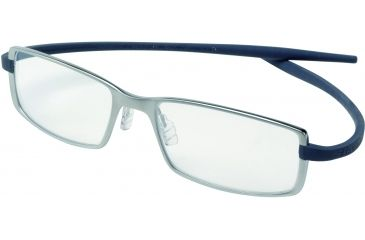 Tag Heuer Reflex 2 Eyeglasses, Chromium Frame/Blue Grey Temples, Clear Lens 3704-005