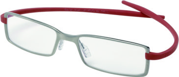 Tag Heuer Reflex 2 Eyeglasses, Pure Frame/Red Temples, Clear Lens 3703-004