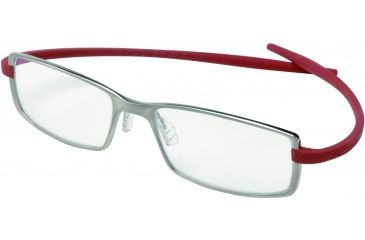 Tag Heuer Reflex 2 Eyeglasses, Pure Frame/Red Temples, Clear Lens 3704-004