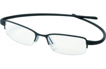 Tag Heuer Reflex Eyeglasses, Black Frame/Black Temples, Clear Lens 3201-004