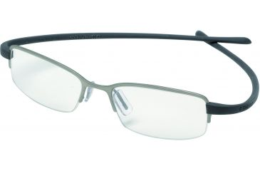 Tag Heuer Reflex Eyeglasses, Titanium Frame/Grey Temples, Clear Lens 3201-002