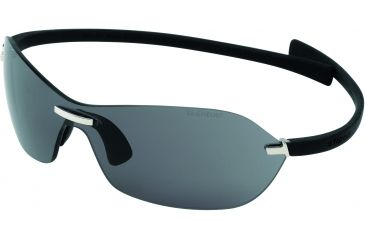 Tag Heuer Rimless Curve Sunglasses, Shiny Palladium Frame/Black Temples, Grey Outdoor Lens 5107-101