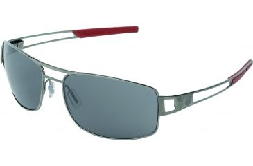 Tag Heuer Speedway Sunglasses, Dark Frame/Red Temples, Grey Outdoor Lens 0201-102