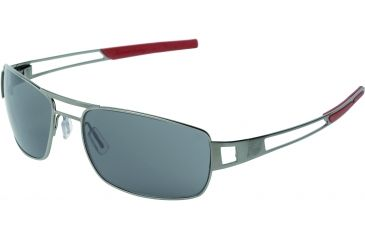 Tag Heuer Speedway Sunglasses, Dark Frame/Red Temples, Grey Outdoor Lens 0203-102