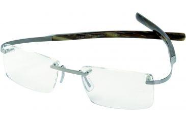 Tag Heuer Spring Eyeglasses, Pure Frame/Brown Fiber Temples, Clear Lens 0301-004