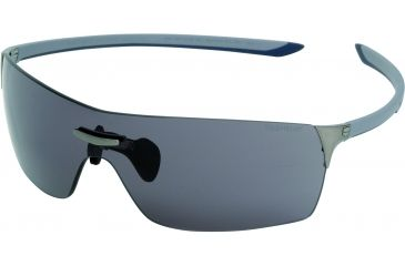 Tag Heuer Squadra Sunglasses, Dark Frame/Light Grey Blue Grey Temples, Grey Outdoor Lens 5501-102