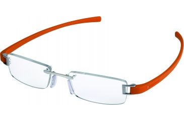 Tag Heuer Track Eyeglasses, Pure Frame/Orange Temples, Clear Lens 7101-019