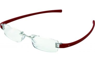 Tag Heuer Track Eyeglasses, Pure Frame/Red Temples, Clear Lens 7101-003