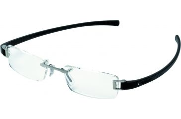 Tag Heuer Track Eyeglasses, Ruthenium Frame/Black Temples, Clear Lens 7101-011