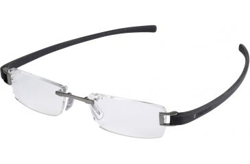 Tag Heuer Track Eyeglasses, Ruthenium Frame/Dark Grey Temples, Clear Lens 7101-017