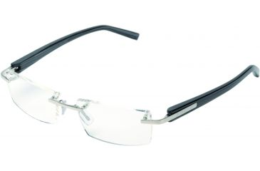 Tag Heuer Trends Eyeglasses, Brushed Frame/Striped Temples, Clear Lens 8102-001