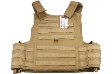 TAG Rampage Armor Plate Carrier Vest, Large/Extra Large, Coyote Tan 814562