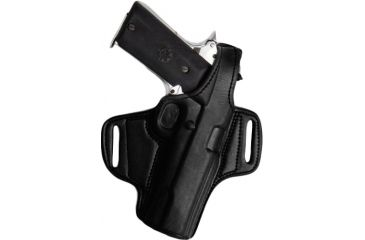 Tagua Gunleather Mini Thumb Break Leather Belt Holster For Smith Wesson Sigma Right Hand Black