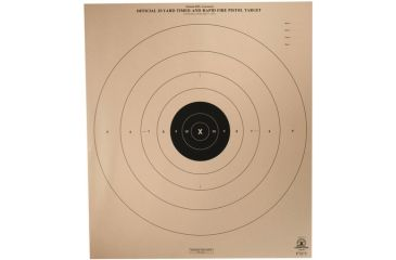 Target Barn 25 Yard Timed And Rapid Fire Pistol Light Paper Targets 100 Per Pack